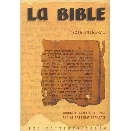 Bible du Rabbinat Français, rigide tranche or
