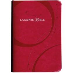 BIBLE SEGOND 1910, SIMILICUIR,SOUPLE ROSE, TRANCHE ARGENT 1061