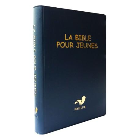 LA BIBLE POUR JEUNE VINYLE SOUPLE BLEU