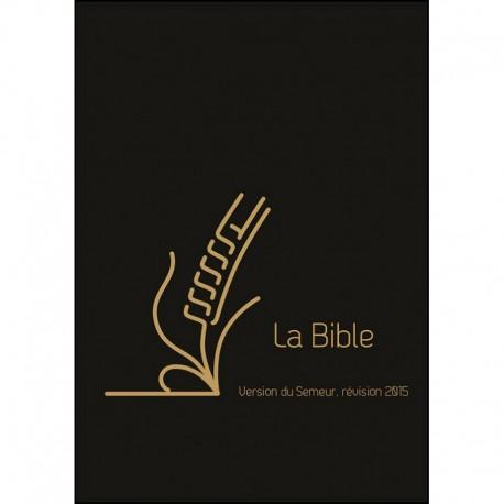 Bible Semeur 2015 cuir vachette noir onglets