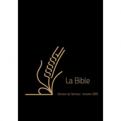 Bible Semeur 2015 poche cuir zip noir tr.or