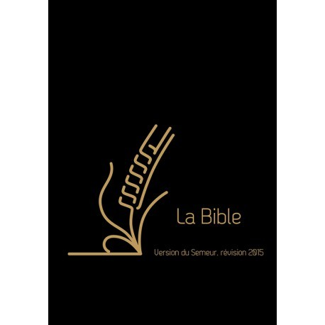 Bible Semeur 2015 poche cuir zip noir
