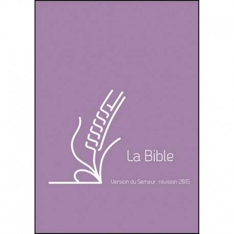Bible Semeur 2015 poche PU zip violet
