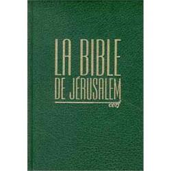 Bible de Jérusalem avec notes hc verte