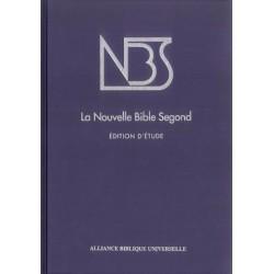 Bible NBS (Nouvelle Bible Segond) étude, reliure rigide
