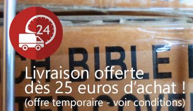 Livraison gratuite à partir de 25€ - réduction temporaire